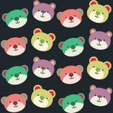 Teddy Bear Seamless Background Pattern. Cheerful and cute teddy bear seamless pattern Royalty Free Stock Photo