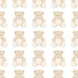 Teddy bear seamless Stock Photos