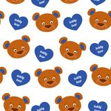 Teddy bear seamless pattern vector Stock Images