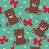 Teddy bear seamless wallpaper Stock Images