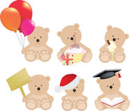 Teddy bear set Stock Images