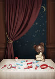 Teddy bear and set of Doctors Stock Photo