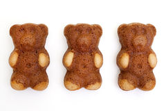 Teddy bear shaped cakes Stock Photography