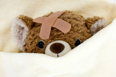 Teddy bear is sick Royalty Free Stock Photo