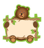 Teddy Bear sign Stock Images
