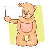 Teddy Bear with sign Stock Photos