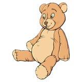 Teddy bear. Single colorful  teddy bear sit  on white Stock Photography