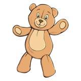 Teddy bear. Single colorful tteddy bear on white Royalty Free Stock Photos