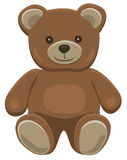 Teddy bear sitting. Basic brown teddy bear in solid colors on white Stock Photography
