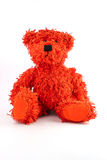 Teddy bear. Sitting on a white background Stock Photography