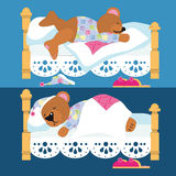 Teddy bear sleeping Royalty Free Stock Images