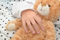 Teddy bear sleeps Royalty Free Stock Photography