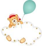 Teddy Bear Sleepy Cloud Fotografia Stock Libera da Diritti