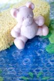 Teddy bear soap bar Stock Images