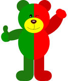 Teddy Bear Soccer Portugal Flag. Scalable vectorial image representing a teddy bear soccer Portugal flag,  on white Royalty Free Stock Photos