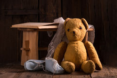 The teddy bear. Is a soft toy in the form of a bear Royalty Free Stock Image