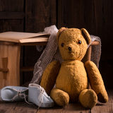 The teddy bear. Is a soft toy in the form of a bear Royalty Free Stock Images