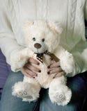 Teddy bear. Soft teddy bear with white teddy bear shape that is endearing Royalty Free Stock Photos