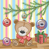 Teddy Bear sous l'arbre Image stock