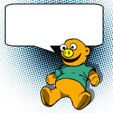 Teddy bear with speech bubble Royalty Free Stock Image