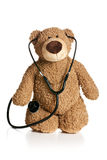 Teddy bear with stethoscope Royalty Free Stock Photos