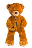 Teddy bear with stethoscope Royalty Free Stock Image