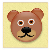 Teddy bear sticker Royalty Free Stock Photos