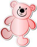 Teddy bear sticker. Red teddy bear sticker illustration vector illustration