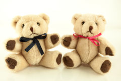 Teddy Bear Stuffed Toys gêmeo Fotografia de Stock