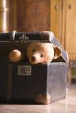 Teddy Bear In Suitcase Imágenes de archivo libres de regalías