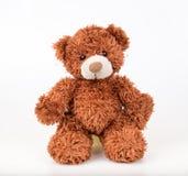 Teddy Bear sur le fond d'isolat plancher gentil b d'amour d'art mignon d'arc Images libres de droits