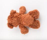 Teddy Bear sur le fond d'isolat plancher gentil b d'amour d'art mignon d'arc Images stock