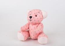 Teddy Bear sur le fond d'isolat plancher gentil b d'amour d'art mignon d'arc Photographie stock libre de droits