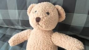 Teddy Bear sur le lit images libres de droits
