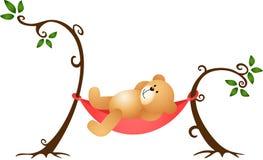 Teddy Bear Swinging royalty-vrije illustratie