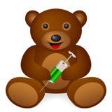 Teddy bear syringe stock illustration