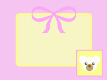 Teddy Bear Tag Royalty Free Stock Images