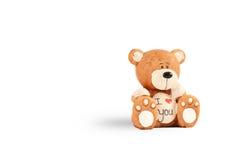 Teddy Bear te amo Fotografía de archivo