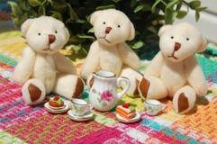 Teddy Bear Tea Party Lizenzfreies Stockbild