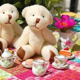 Teddy Bear Tea Party stock photography