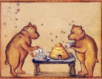 Teddy Bear Tea Time Party Stock Images