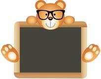 Teddy Bear Teacher avec le conseil pédagogique Images stock