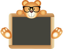 Teddy Bear Teacher with School Board Stock Images