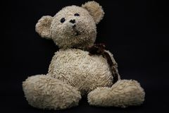 Teddy Bear. On a black background Royalty Free Stock Image