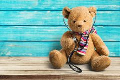 Teddy bear. Recovery stethoscope healthcare and medicine medical exam medicine patient Stock Photos