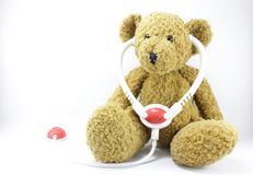 Teddy Bear. On a white background Royalty Free Stock Image