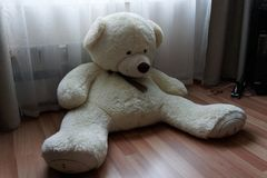 Teddy bear is tired waiting for you Stock Images