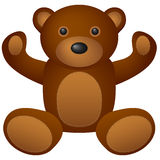 Teddy bear toy royalty free illustration