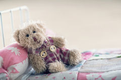 Teddy bear in a toy ber Stock Image