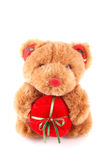 Teddy bear toy with gift Royalty Free Stock Photo